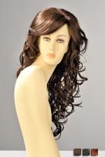 Perruque Dareen : Perruque longue aux cheveux ondulés de boucles sensuelles qui se répandent sur la poitrine.