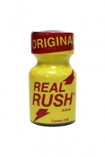 Poppers Real rush original 9 ml : Arôme Original Real Rush au nitrite de pentyle, en flacon de 9 ml.