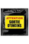 Préservatif humour - Attention Sortie D'engins : Préservatif